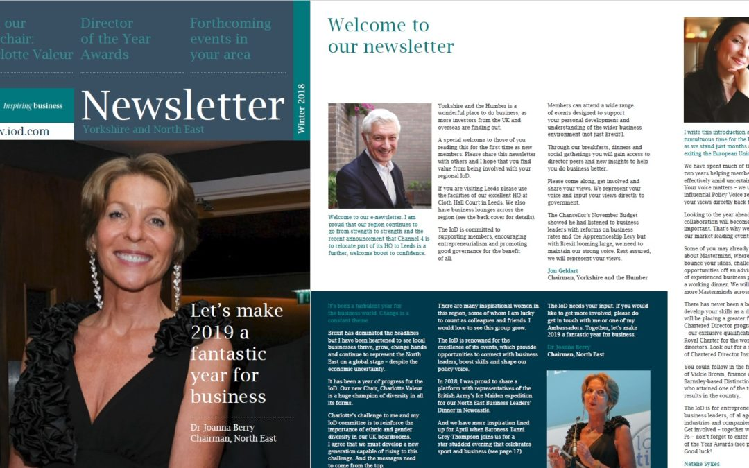 Cicada produces IoD Winter newsletter